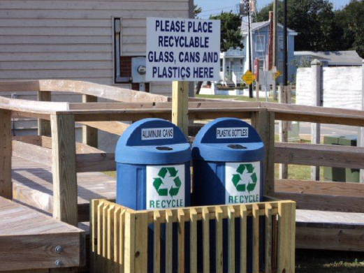 Recycling Bins at Morehead City Park